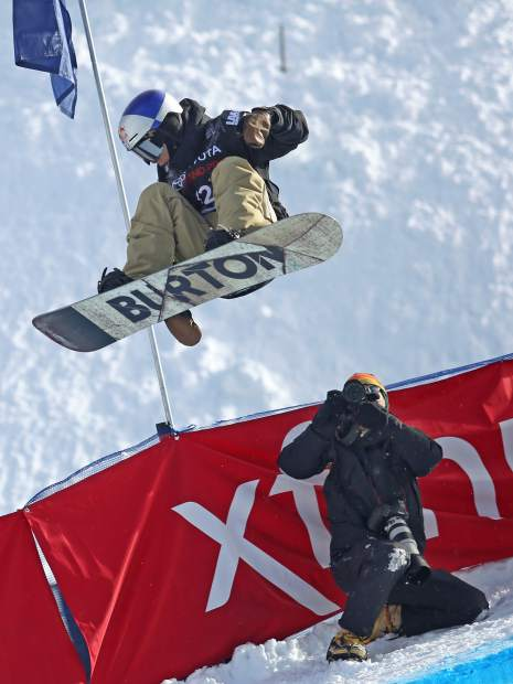 Japan's Taku Hiraoka competes in Thursday's men's snowboard halfpipe qualifier at the U.S. Grand Prix in Snowmass. Hiraoka was ninth in his heat and didn't make Saturday's final.