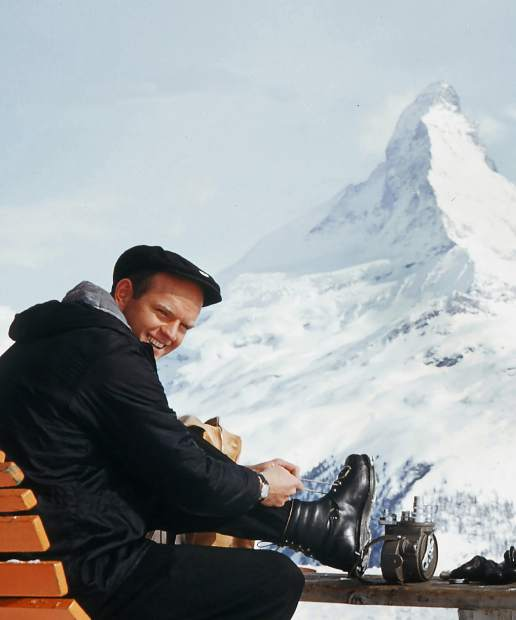 Warren Miller at the Matterhorn. Miller's autobiography,