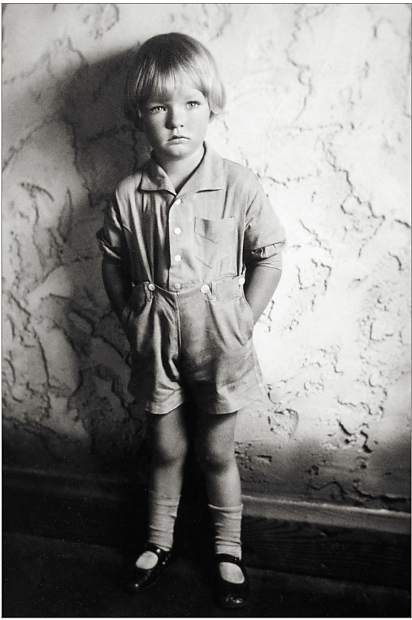 Four-year-old Warren Miller in 1928.