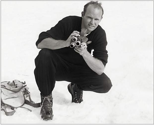 Warren Miller and his trusty Bell & Howell camera. Miller lived in Vail for 12 years and had a regular column in the Vail Daily before being syndicated to more than 50 publications.