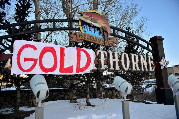 "The sign welcoming drivers into Silverthorne from eastbound Interstate 70 at exit 205 now reads ""Welcome to Goldthorne"" after local Red Gerard won Olympic gold in the men's snowboard slopestyle."