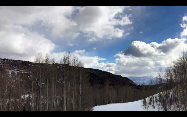 One view from the Ute ski run at Sunlight Mountain Resort.