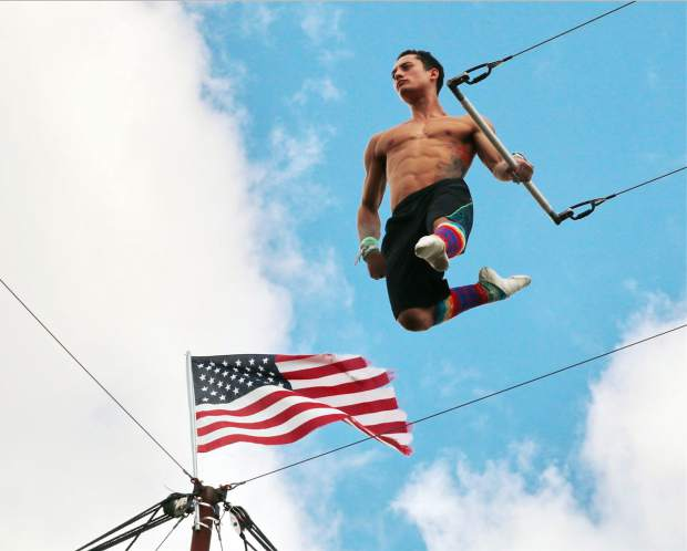 daring young man on the flying trapeze postindependent com
