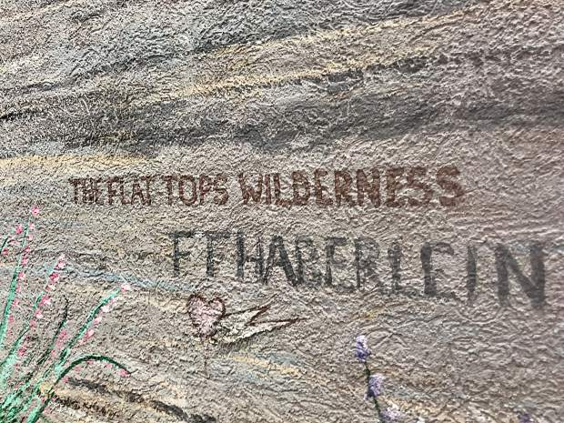 Fred Haberlein's signature marks one of the 140 pieces of public art he created during his lifetime. He died Monday at age 73.