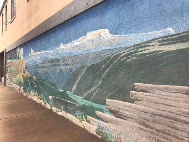 Fred Haberlein painted many murals around Glenwood Springs, including