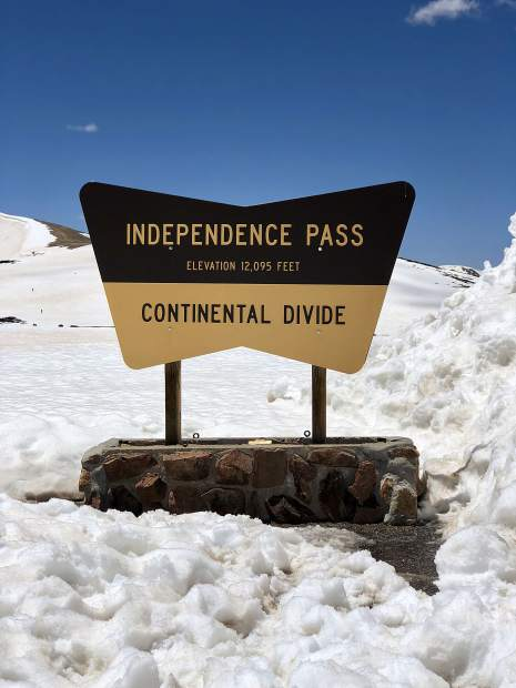 Independence Pass summit.