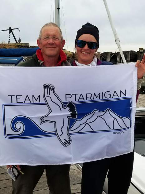 Bo and Kelsey Bohanon get ready to set sail in the Race 2 Alaska, from Port Townsend, Washington to Ketchikan, Alaska.