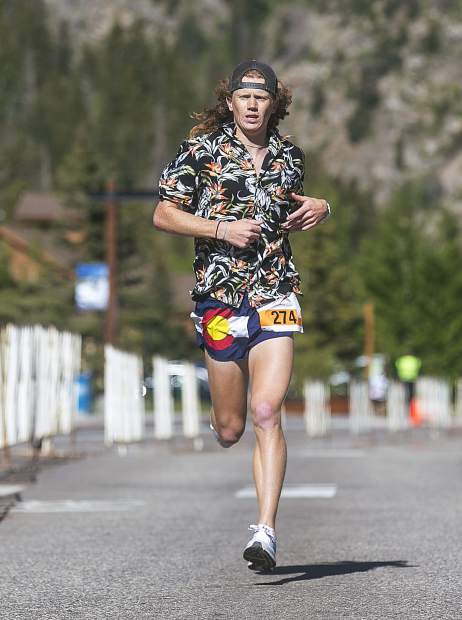 2018 Run The Rockies 10k winner Luke Bruns finishes with time of 35 minute and 36 seconds on Saturday, June 2, in Frisco.