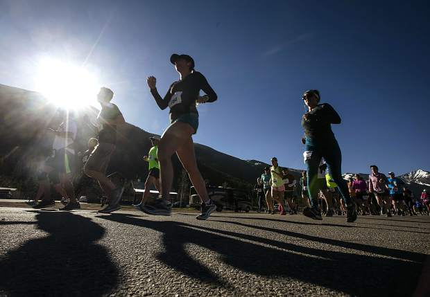 Participants take off for the the Run the Rockies race on Saturday, June 2, in Frisco.
