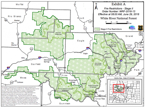 White River National Forest implements Stage II fire restrictions ...