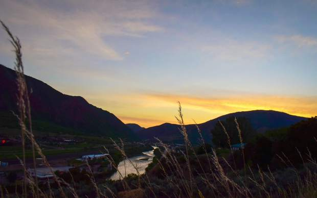 Glenwood Springs photographer Brian Brooks captured this sunset over West Glenwood on Sunday evening.