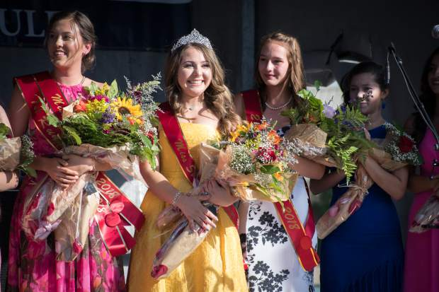 Scenes from the 2018 Miss Strawberry Days crowning ceremony at Sayre Park on Friday evening.
