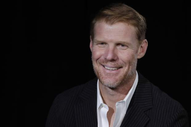 Alexi Lalas talks during an interview, Wednesday, May 30, 2018, in New York. Lalas will be part of Fox Sports coverage of the 2018 FIFA World Cup. (AP Photo/Mark Lennihan)