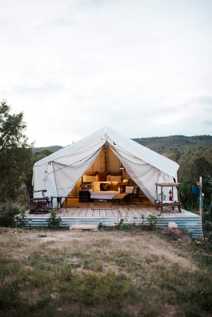 An example of the Safari Glamping Tent that will soon be available at the Cedar Ridge Guest Ranch.