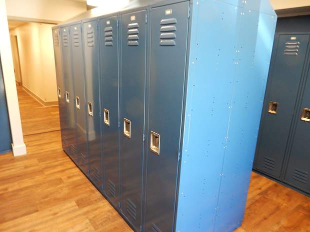 Ski lockers are provided on the first floor to tenants of Roaring Fork Apartments.