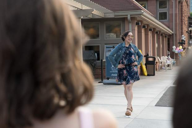 Miss Strawberry Days contestant Litzy Rivera makes her way to the red carpet during the 2018 Miss Strawberry Days Fashion show at the Glenwood Hot Springs Pool on Thursday evening.
