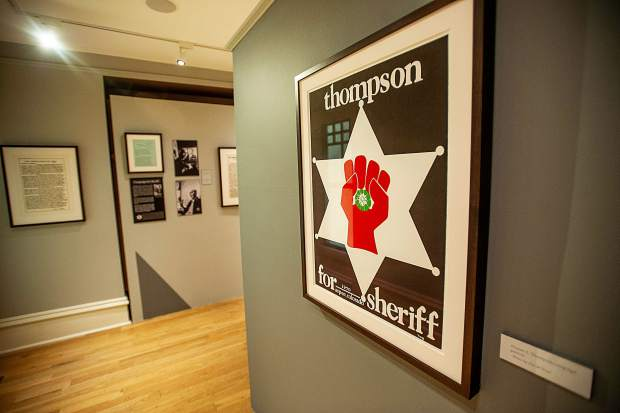 Hunter S. Thompson's 1970 campaign for Pitkin County Sheriff is the subject of an Aspen Historical Society exhibition opening Wednesday.