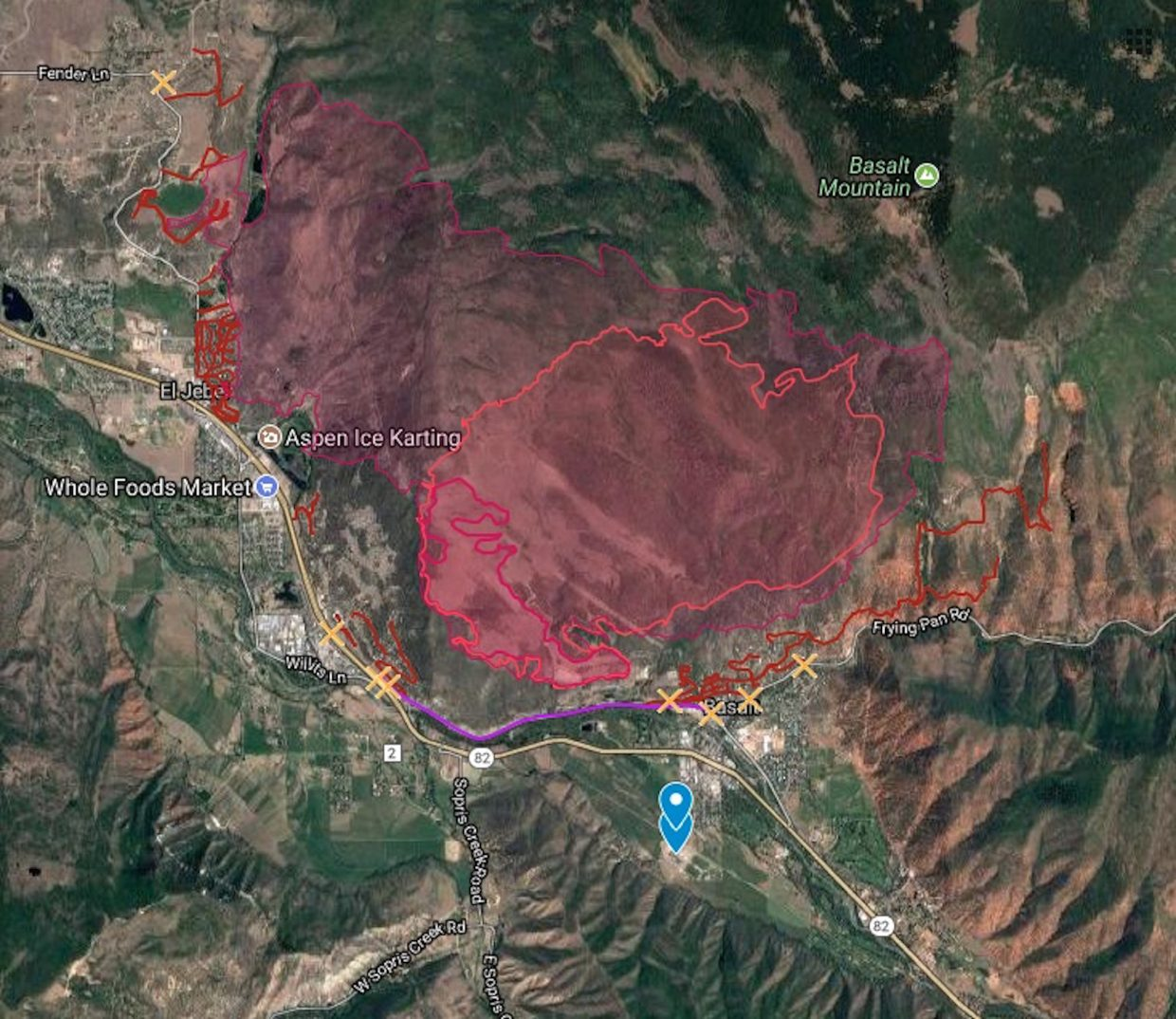 Basalt Fire Day 3: 0% Containment, Fire Grows To 4,900