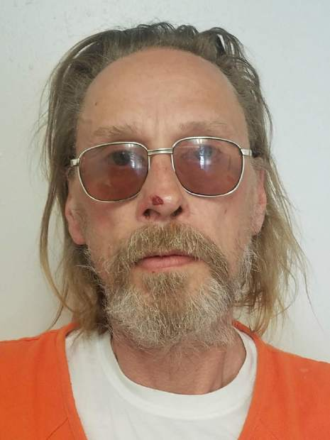 This undated booking photo released by the Costilla County Sheriff's Office shows Jesper Joergensen. Joergensen, accused of starting a Colorado wildfire that has forced the evacuation of more than 2,000 homes, acknowledged building a fire on land where he has been living but said he made sure it was out, a court document says. Jesper Joergensen, 52, initially said he had started a fire to burn trash on land where he has been living in a camper but then said he had been grilling in a permanent fire pit the day before the wildfire started, the document states. Joergensen, who is from Denmark, is being held in jail and is scheduled to appear in court Tuesday, July 2, 2018. (Costilla County Sheriff's Office via AP)