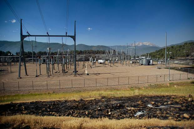 The Basalt transmission substation on July 4.