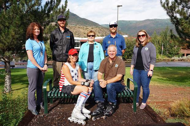Holy Cross Energy (HCE) was one of four Colorado Health Links Certified Healthy Business Accelerator Award recipients this year. HCE used the award funds to purchase a bench for the Rio Grande Trail in front of its Glenwood Springs headquarters. HCE worked with Brett Meredith of RFTA to place the bench. RFTA donated the installation, labor and materials needed to install the bench. So next time you are on the trail by the HCE headquarters, have a seat and enjoy the view of Red Canyon while thanking Colorado Health Links, RFTA and HCE for their great community partnership.