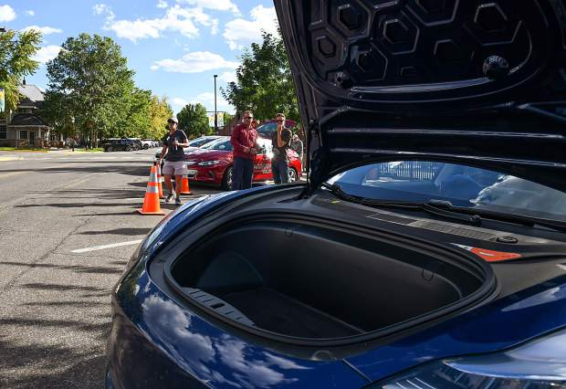 Garfield Clean Energy, CLEER and the City of GLenwood Springs host an electric vehicle ride and drive event on Cooper Avenue on Tuesday afternoon. Community members were invited to check out and/or drive electric vehicles from six different dealers in a relaxed and low pressure environment.
