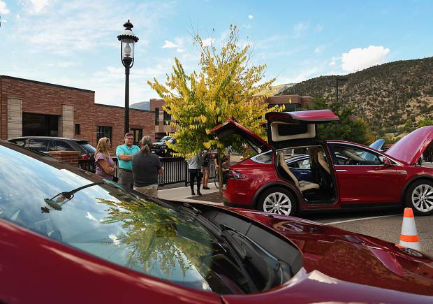 Garfield Clean Energy, CLEER and the city of Glenwood Springs hosted an electric vehicle ride and drive event on Cooper Avenue on Tuesday afternoon. Community members were invited to check out and/or test drive electric vehicles from six different dealers in a relaxed and low pressure environment.
