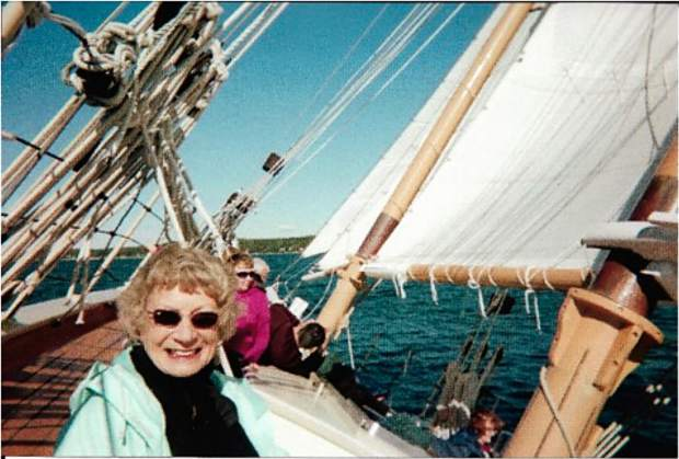 June Herrell on a sailing trip.