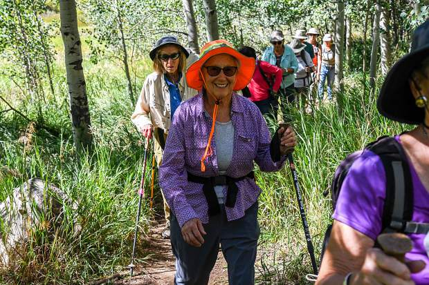 Alice Ramsay smiles and enjoys the nice weather during a hike to Hunter Creek in Aspen on Aug. 29.