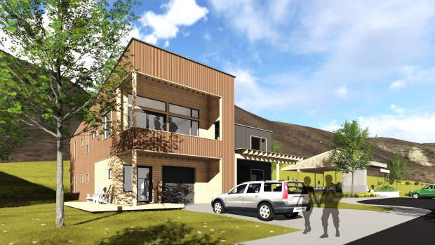 Ths drawing provides a view of the Basalt Vista project, a collaboration between Habitat For Humanity, Roaring Fork School District, Pitkin County and Basalt.