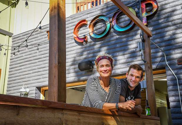 Owners of The Coop Kayce and Clark Anderson.