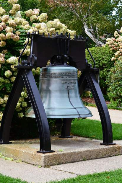 Reproduction of the Liberty Bell in Concord, NH.
