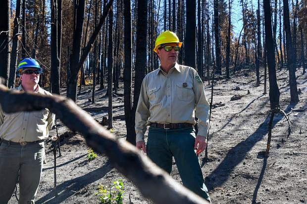 White River National Forest Supervisor Scott Fitzwilliams explains the purpose of controlled burns and how they help prevent the spread of fires such as the Lake Christine FIre that broke out in July.