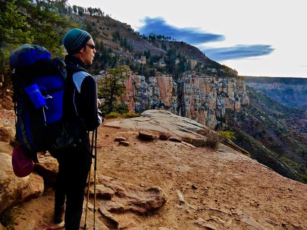 David Weidemann of Glenwood Springs takes in the view during the adventure in the Grand Canyon with his mom Janet Weidmann.