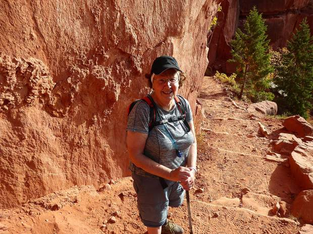 Janet Weidemann, an 80-year-old retired nurse, made the daunting journey hiking rim-to-rim of the Grand Canyon with some help from her son and Glenwood Springs resident David Weidemann.