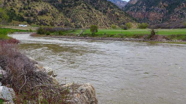 The Colorado River at No Name, above Glenwood Springs, and just off of I-70 near the No Name rest stop. This is one of three sites where the city of Glenwood Springs is pursuing water rights for a potential whitewater park.
