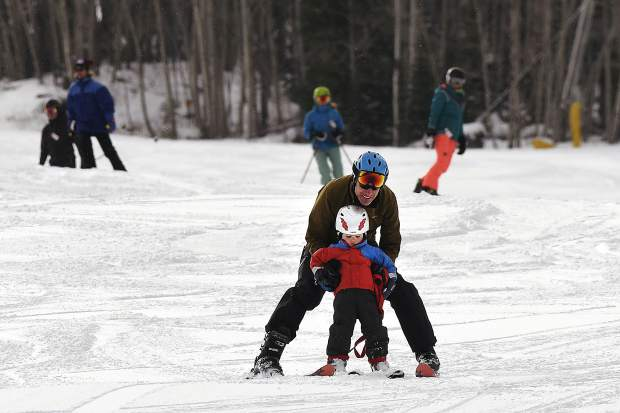 Sunlight Mountain Resort thrives with activity as skiers and riders take to the slopes Friday as the resort celebrates its 52nd season.