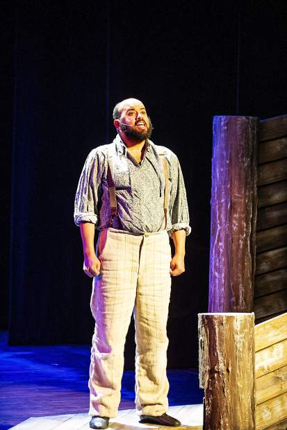 Gerald DeLisser playing Jim in a scene from the Aspen Community Theatre dress rehearsal of the musical