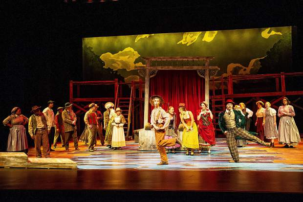 A scene from the Aspen Community Theatre dress rehearsal of the musical