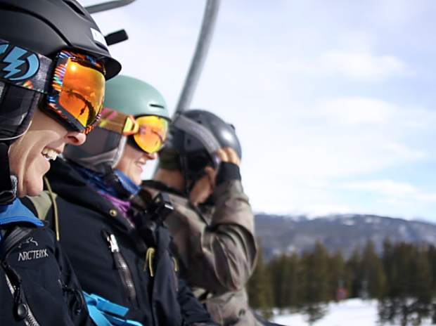 Winter Van Alstine smiles on the Ajax Express for Aspen Mountain's opening day on Saturday.