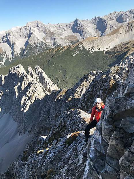 Tara Vessella, a student in Colorado Mountain College's avalanche science program, took a break from attending the recent International Snow Science Workshop 2018 in Innsbruck, Austria, to climb some local mountains. The conference offers an exchange of ideas and experiences between snow science researchers and practitioners.