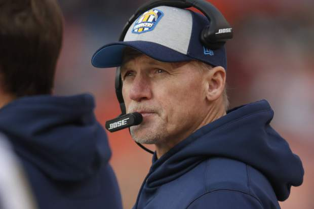 Los Angeles Chargers offensive coordinator Ken Whisenhunt looks on during the first half of an NFL football game against the Denver Broncos, Sunday, Dec. 30, 2018, in Denver. (AP Photo/David Zalubowski)