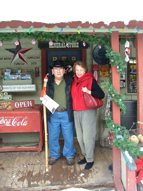 Julie Wiley's parents, during one of their many Christmastime visits to Redstone since the Wiley family moved to the Roaring Fork Valley 10 years ago.