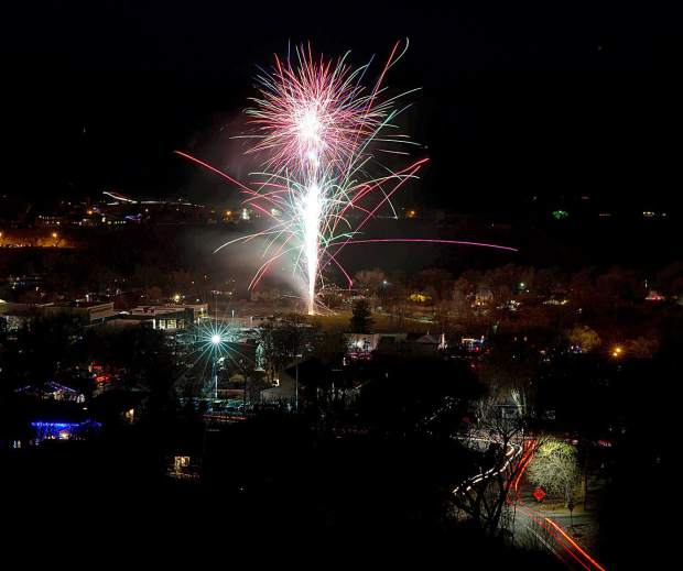 Fireworks at the Dec. 1 Hometown Holidays celebration in Rifle.