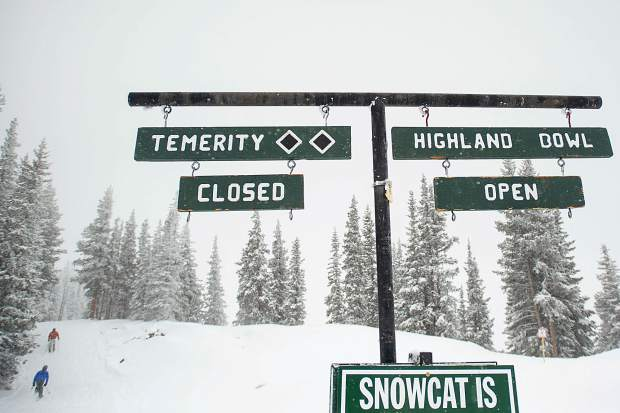Highland Bowl opened up on Saturday afternoon for opening day.