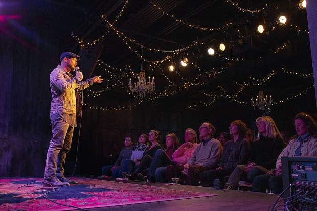 Comedian Mike Stanley performed at The Temporary on Dec. 8. The staff plans to keep reeling audiences in next year with a mix of music, theater and comedy.