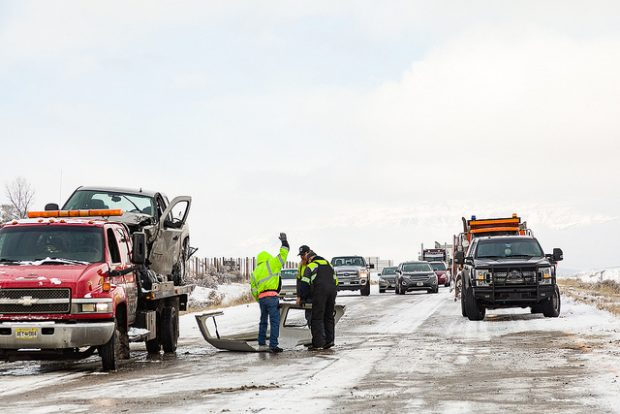 Photos from the Thursday morning accident that closed I-70 in Rifle