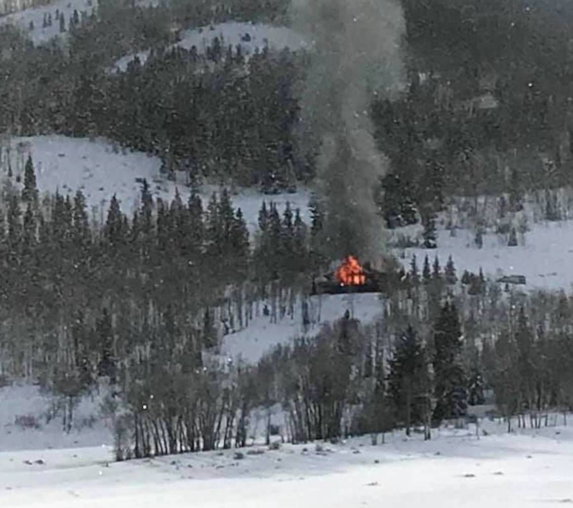 A house on South Shore Drive at the east end of Ruedi Reservoir caught fire Tuesday morning.