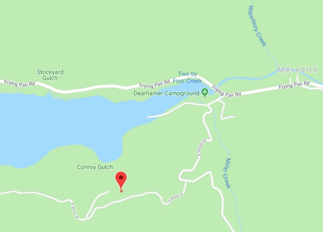 The Tuesday morning fire occurred at 540 South Shore Drive on the east side of Ruedi Reservoir.