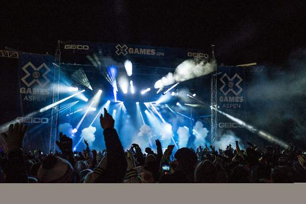 X Games has hosted concerts in a dedicated 5,000-viewer capacity venue at Buttermilk since 2014. The full slate of the festival sold out for the first time this year.